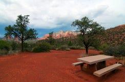 Sturm, der über sedona, Arizona hereinkommt Lizenzfreies Stockbild