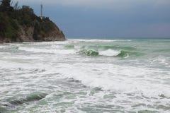 Sturm an der Küste Stockbild