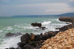 Sturm an der Küste Stockfotografie