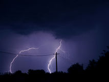 Sturm in der Stadt Stockfotografie