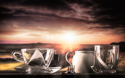 Sturm in einem Teacup stockfotos