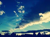 Sturm im Himmel stockfotografie