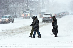 Sturm im Winter Lizenzfreies Stockbild