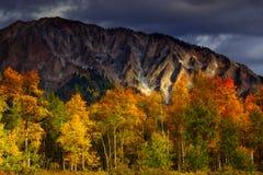 Sturm-Licht über Marcellina Mountain Stockfotografie