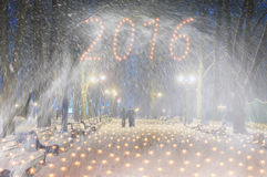 Sturm in Mariinsky-Park Lizenzfreie Stockfotografie