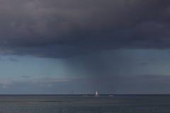 Sturm in Meer stockfotografie