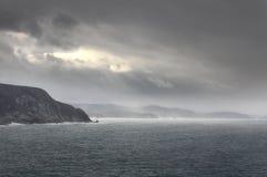 Sturm in Meer Stockbild
