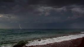 Sturm in Meer stock footage