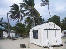 Sturm mit starken Winden schlug Insel in Belize Lizenzfreie Stockbilder