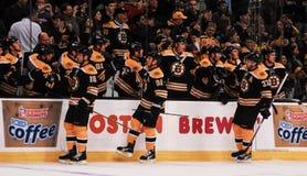 Sturm, Savard & Bergeron, Bruins Score! Royalty Free Stock Images
