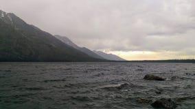 Sturm in Tetons - Jenny Lake lizenzfreies stockbild