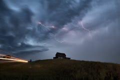 Sturm-Wolken-Saskatchewan-Blitz Stockbilder
