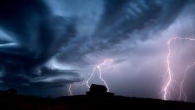 Sturm-Wolken-Saskatchewan-Blitz Lizenzfreies Stockfoto