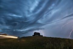 Sturm-Wolken-Saskatchewan-Blitz Lizenzfreie Stockbilder