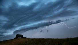 Sturm-Wolken-Saskatchewan-Blitz Stockfoto