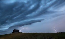 Sturm-Wolken-Saskatchewan-Blitz Stockfotos