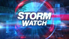 Sturmbeobachtung - Sendung Fernsehgraphiken betiteln lizenzfreie abbildung