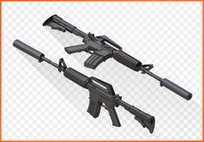 Sturmgewehr m4a1 isometrisch Lizenzfreies Stockfoto