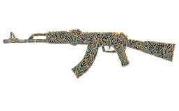 Sturmgewehrform verfasst Stockfotografie