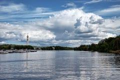 Sturmwolken über Stockholm, Schweden Lizenzfreies Stockfoto