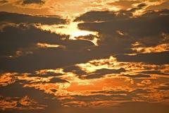 Sturmwolken. Stockfoto