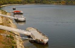 Sturowo στη Σλοβακία Το αγκυροβόλιο για τα σκάφη στο Δούναβη στοκ εικόνες