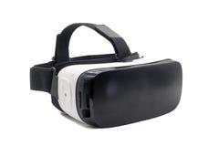 Sturzhelm der virtuellen Realität lokalisiert auf Weiß Lizenzfreie Stockbilder