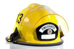 Sturzhelm des Feuerwehrmannes Stockbild