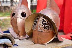 Sturzhelm des Gladiators lizenzfreies stockbild