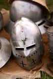 Sturzhelm des Ritters Stockbilder