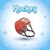 Sturzhelm für den Hockeyspieler Lizenzfreies Stockfoto