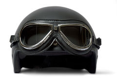 Sturzhelm und Schutzbrillen Stockfoto