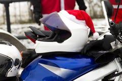 Sturzhelm von Weihnachtsmann Stockfotos