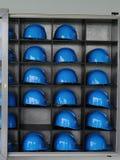Sturzhelme der industriellen Sicherheit Stockfotografie