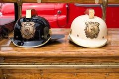 Sturzhelme des Feuerwehrmanns Lizenzfreies Stockbild