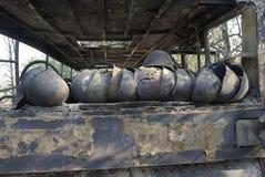 Sturzhelme von toten Kämpfern Lizenzfreies Stockfoto