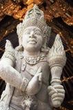 Stutes in de tempel van Bali Stock Foto