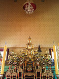 Stutie de Buda en el fondo pianting Bangkok Tailandia Fotos de archivo libres de regalías