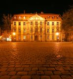 Stutterheim Palace at night. A view of the Baroque Stutterheim Palace in Erlangen, Germany, at night Stock Photography