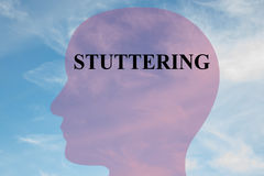 Stuttering - speech disorder Stock Image