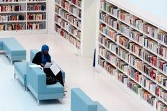 Stuttgart - étudiant dans la bibliothèque publique Photo libre de droits