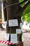 STUTTGART - 2010-09-18: Demonstratie tegen S21 Stock Fotografie
