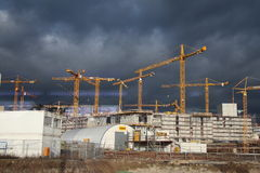 Stuttgart 21 - construction site. Stuttgart 21 is a railway and urban development project in Stuttgart, Germany. It is a part of the Stuttgart–Augsburg new and royalty free stock photos