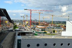 Stuttgart Airport Construction Site. A construction site at Stuttgart Airport Royalty Free Stock Photo