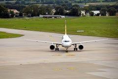 Stuttgart Airport. A plane has landed at Stuttgart Airport Stock Image