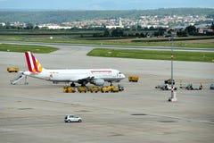 Stuttgart Airport. A plane has landed at Stuttgart Airport Stock Images