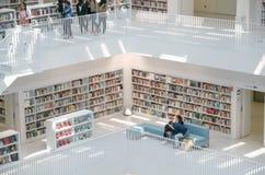 Stuttgart, Allemagne - 21 mai 2015 : La bibliothèque publique de Stuttgart, Photographie stock libre de droits