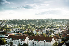 Stuttgart with buildings and trees Stock Images