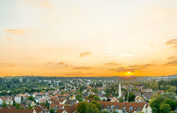 Stuttgart with buildings and trees Royalty Free Stock Photos