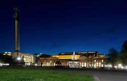 Stuttgart castle at night royalty free stock images
